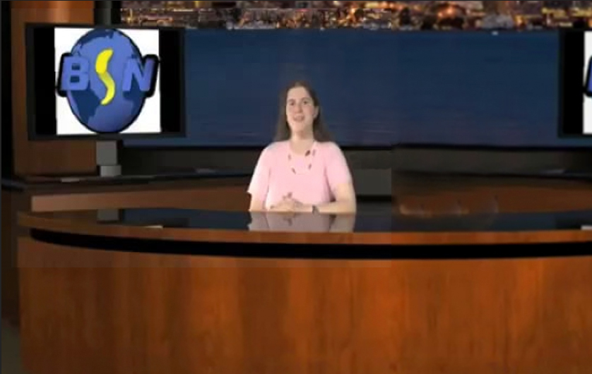 Me anchoring the news for BSN